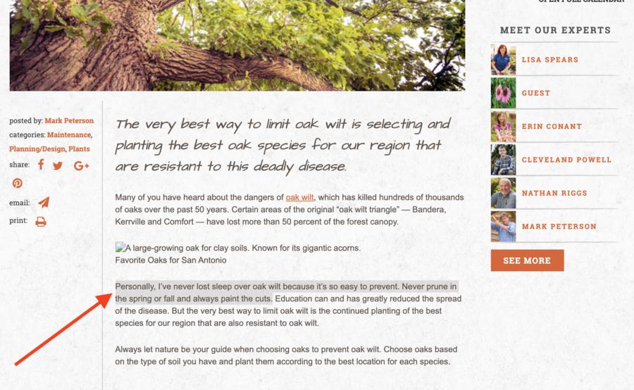 Oak Wilt Easy To Prevent?