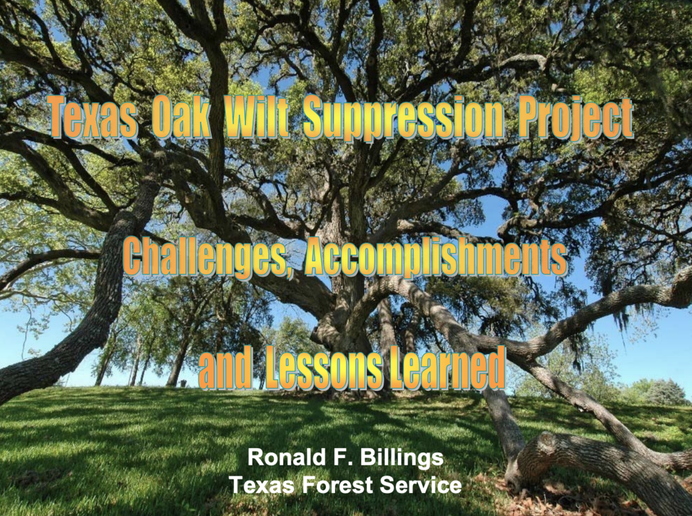 Texas Oak Wilt Suppression Project