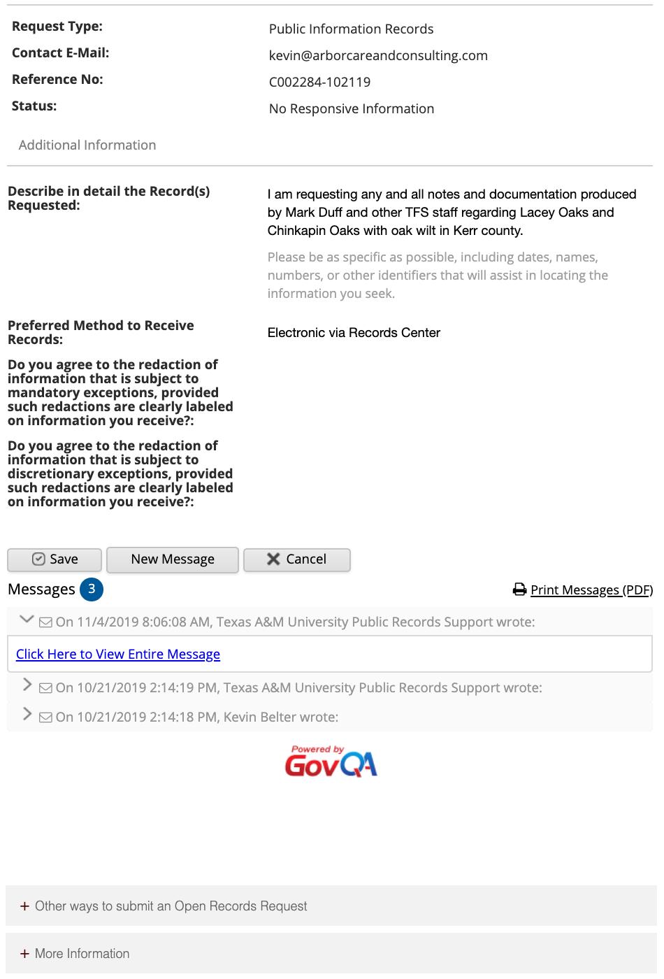 Public Information Act Oak Wilt Image 2
