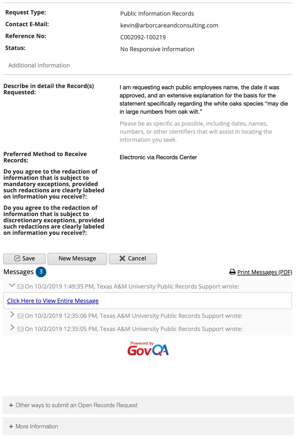 Public Information Act Oak Wilt Image 3