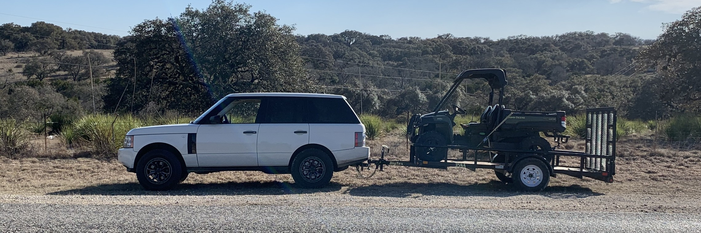 Image: Ranch-ready vehicles for treating oak wilt